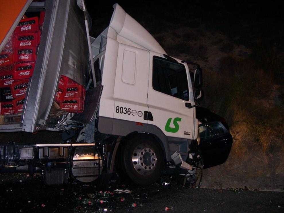 Imagen del accidente en Peñalba