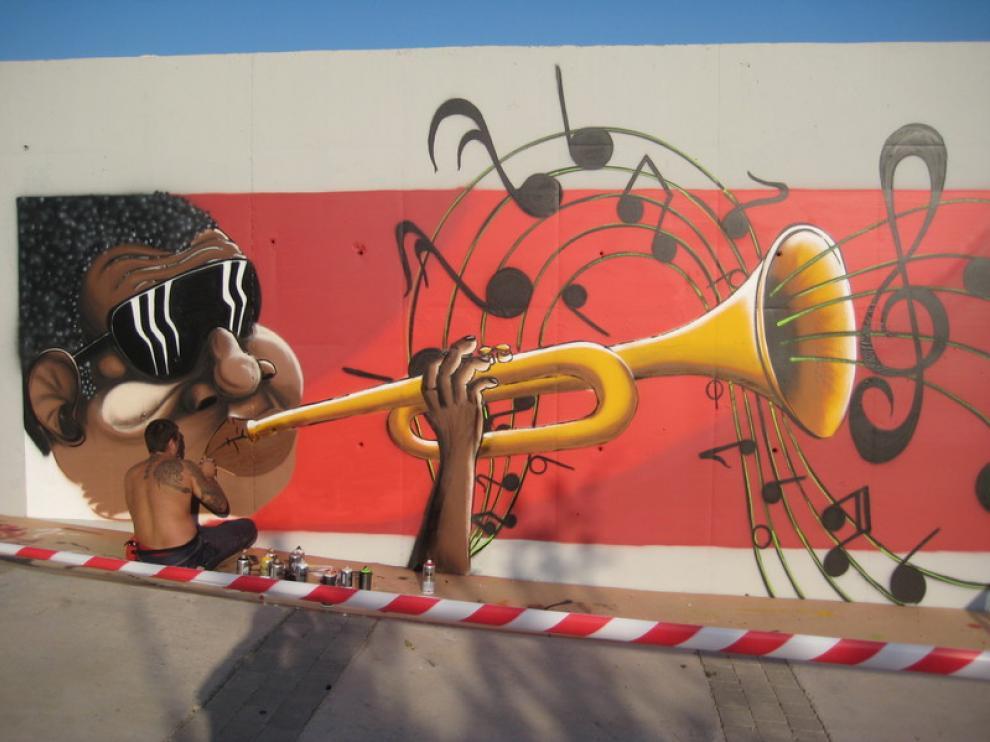 Uno de los murales que optan a ganar del concurso