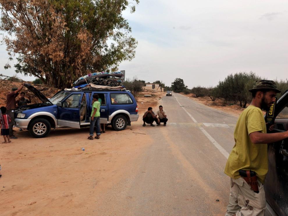 Controles a las afueras de Sirte