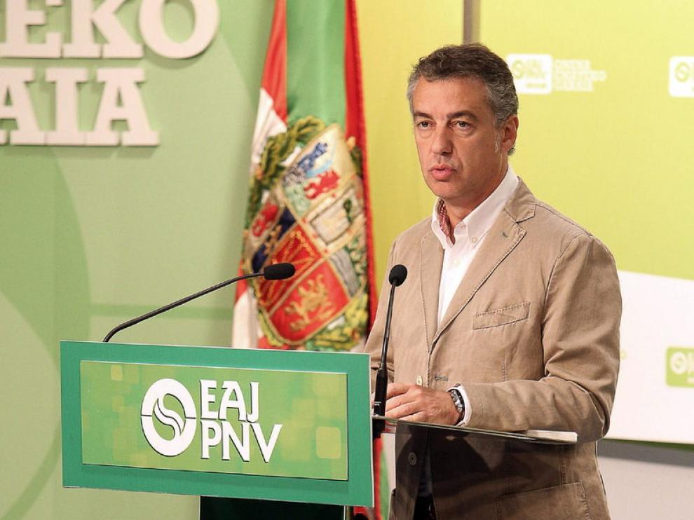 El presidente del PNV, Iñigo Urkullu