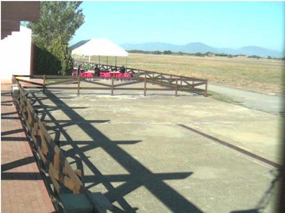 Imagen de hoy del aeródromo de Santa Cilia