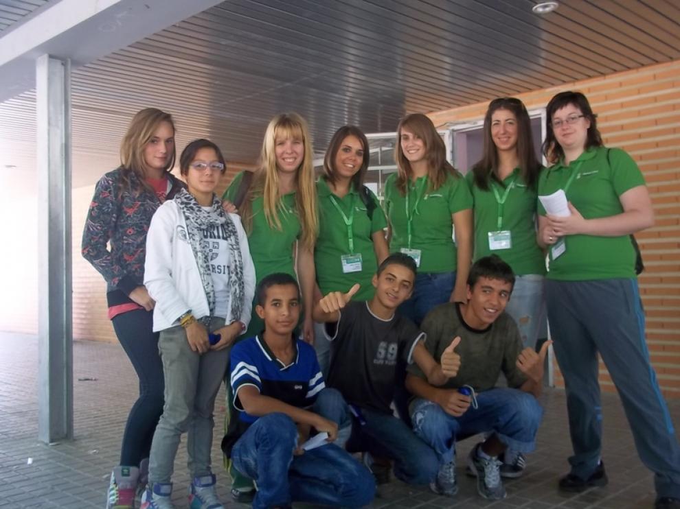 Voluntario verdes en el IES José Mor de Fuentes