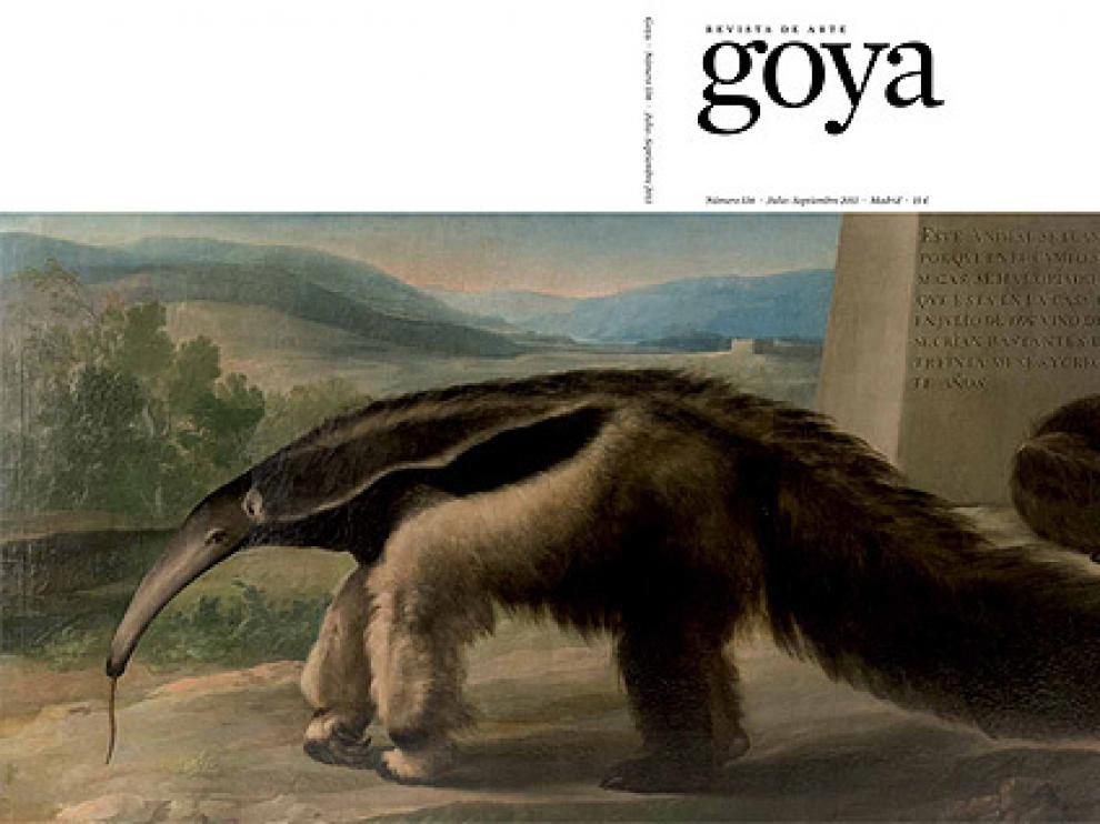 La osa hormiguera supuestamente pintada por Goya