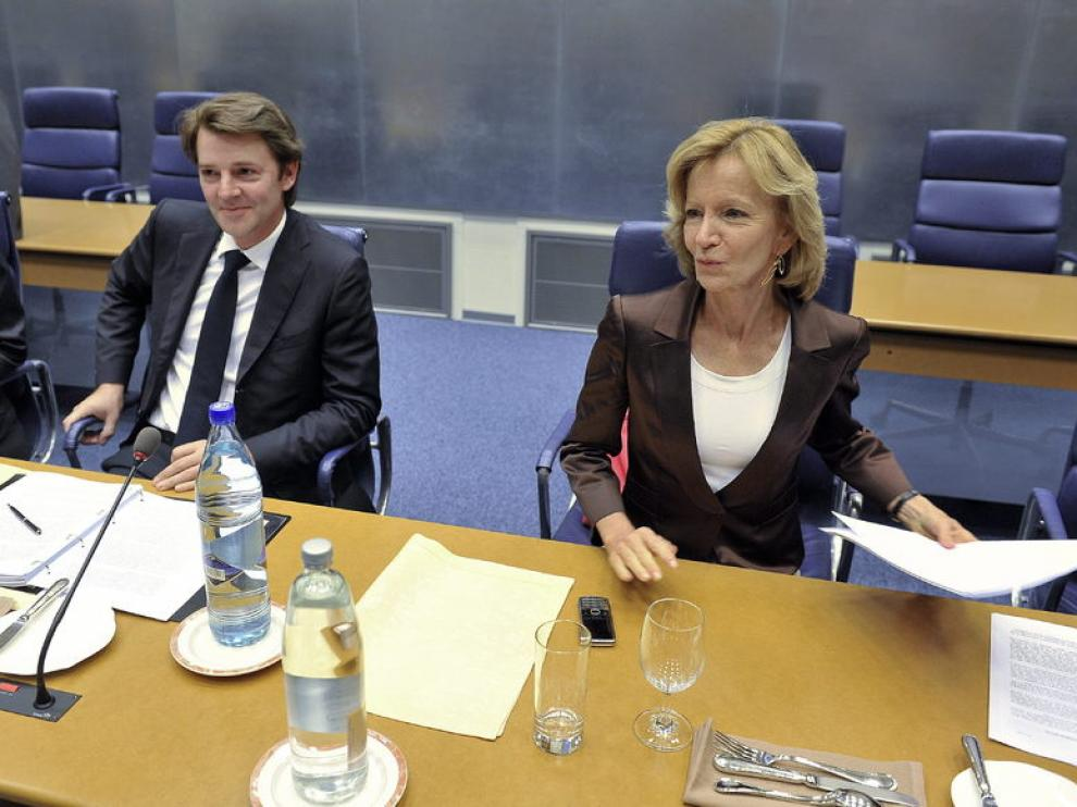La ministra de Economía, Elena Salgado, durante la reunión