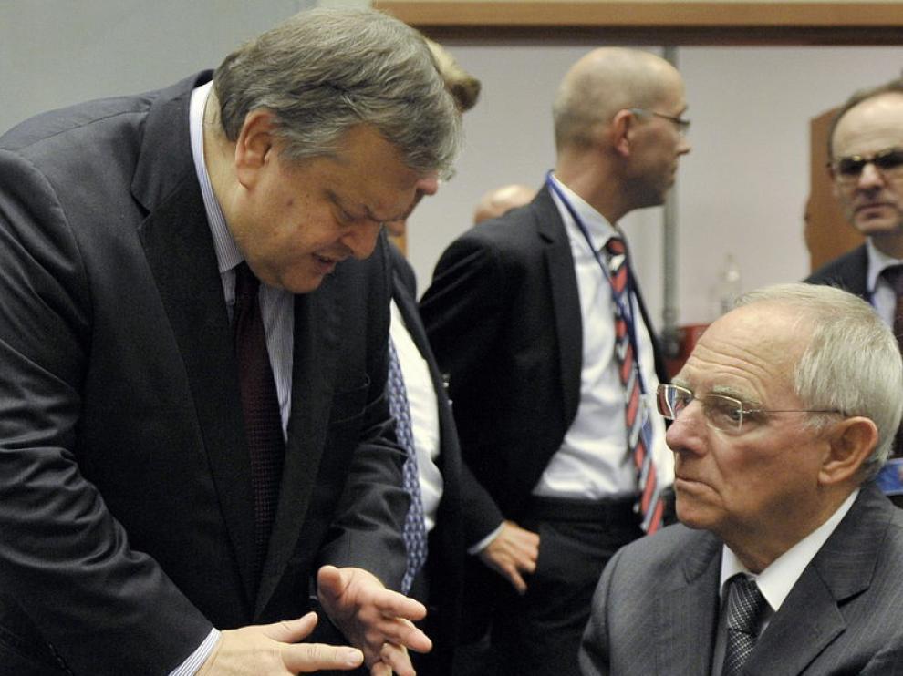 El ministro de finanzas griego, Venizelos