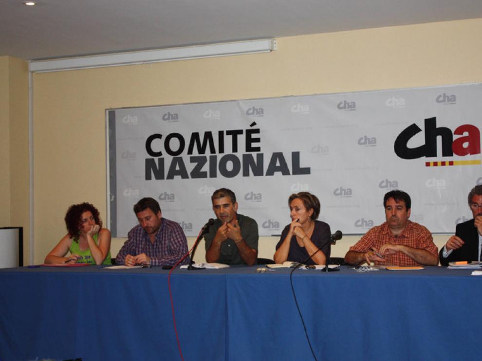 Comité Nazional de Cha, durante la reunión