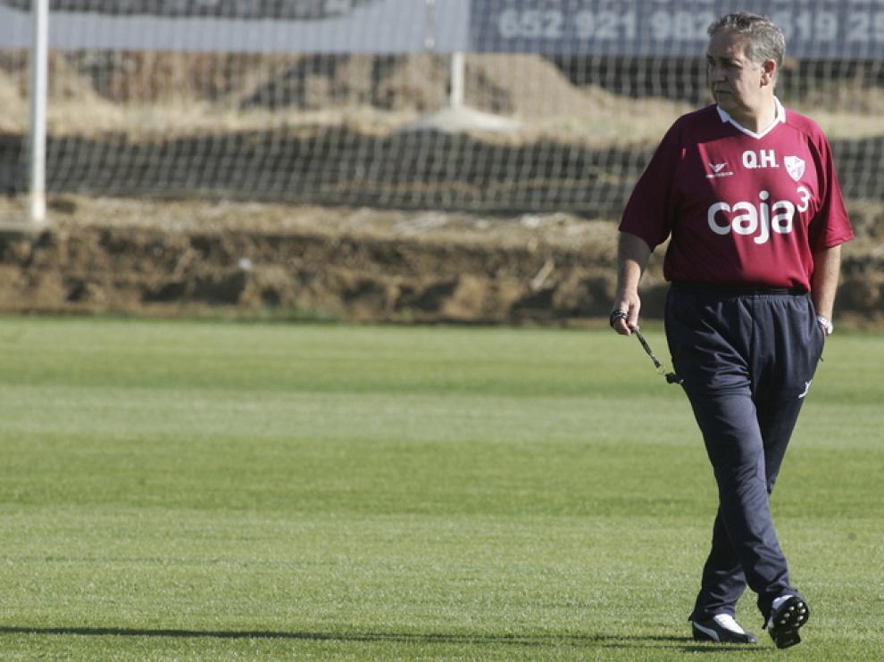 Primer entrenamiento de Quique Hernández al frente del Huesca