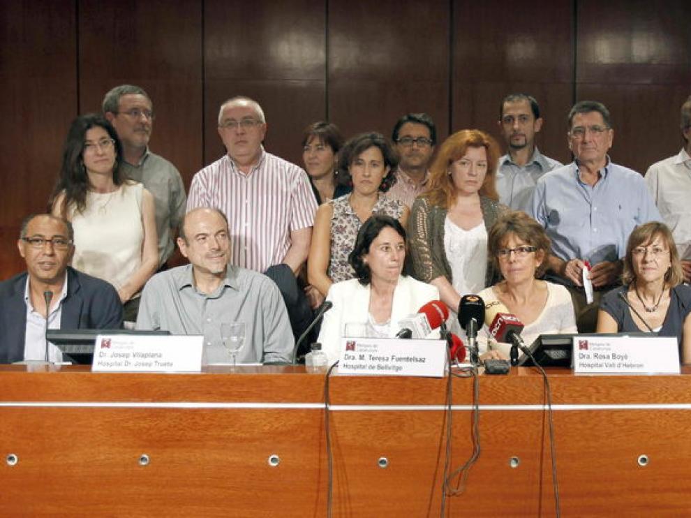 Los delegados del sindicato Metges de Catalunya.
