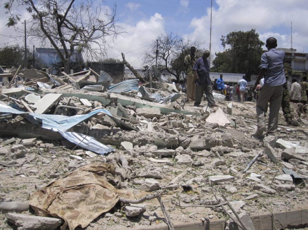 Dramáticas imágenes tras el atentado en Somalia