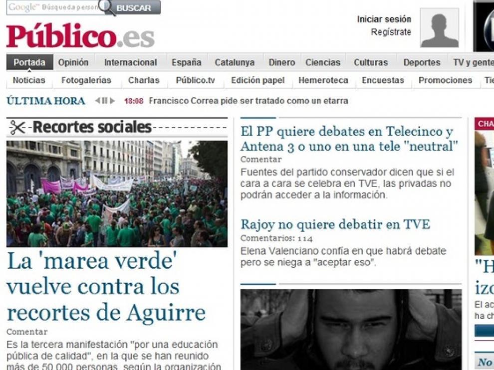 Portada de publico.es