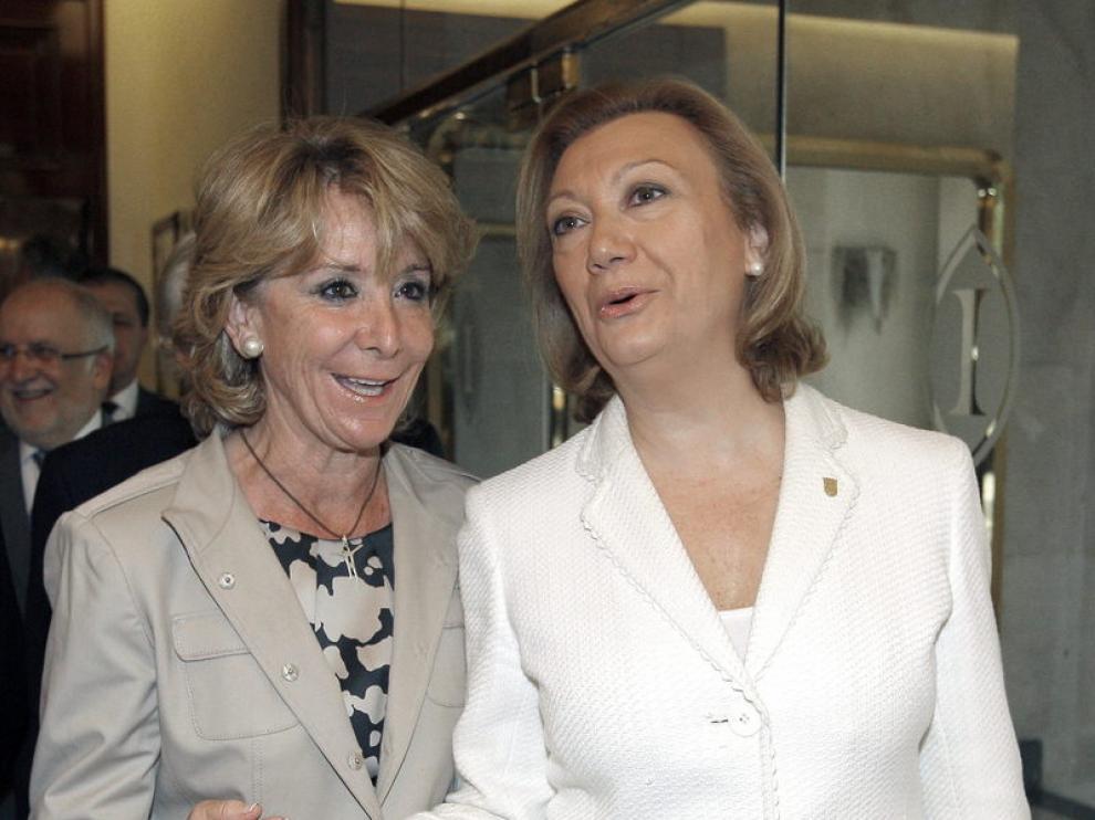 Rudi y Aguirre, en Madrid, antes del desayuno informativo sobre la TCP