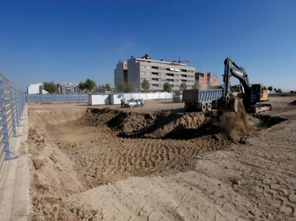 Comienzo de las obras en el Palacio de Justicia de Huesca