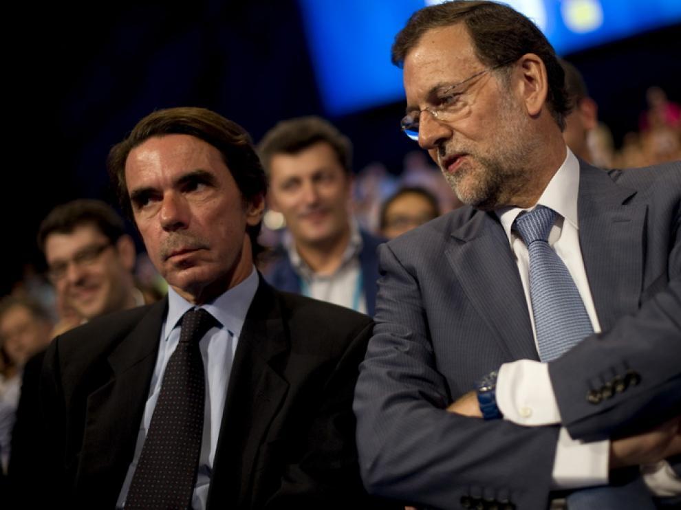 Aznar y Rajoy en la convención de málaga