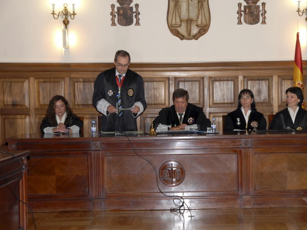 El fiscal jefe, Jesús Gargallo, durante su discurso en el acto de apertura del año judicial.