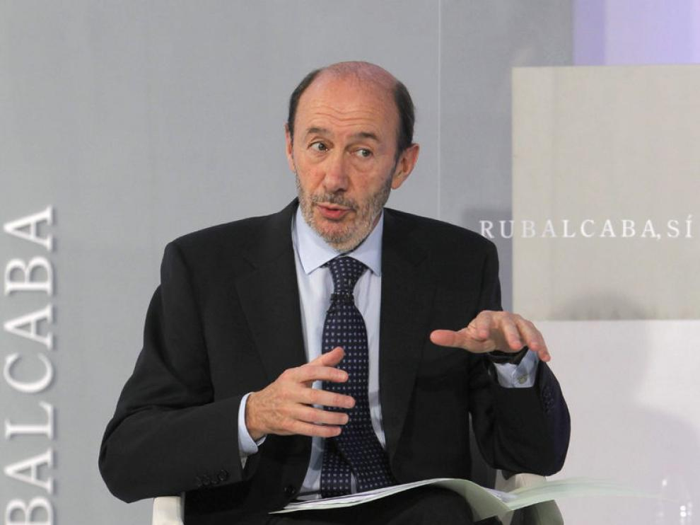 El candidato del PSOE a la Presidencia del Gobierno, Alfredo Pérez Rubalcaba