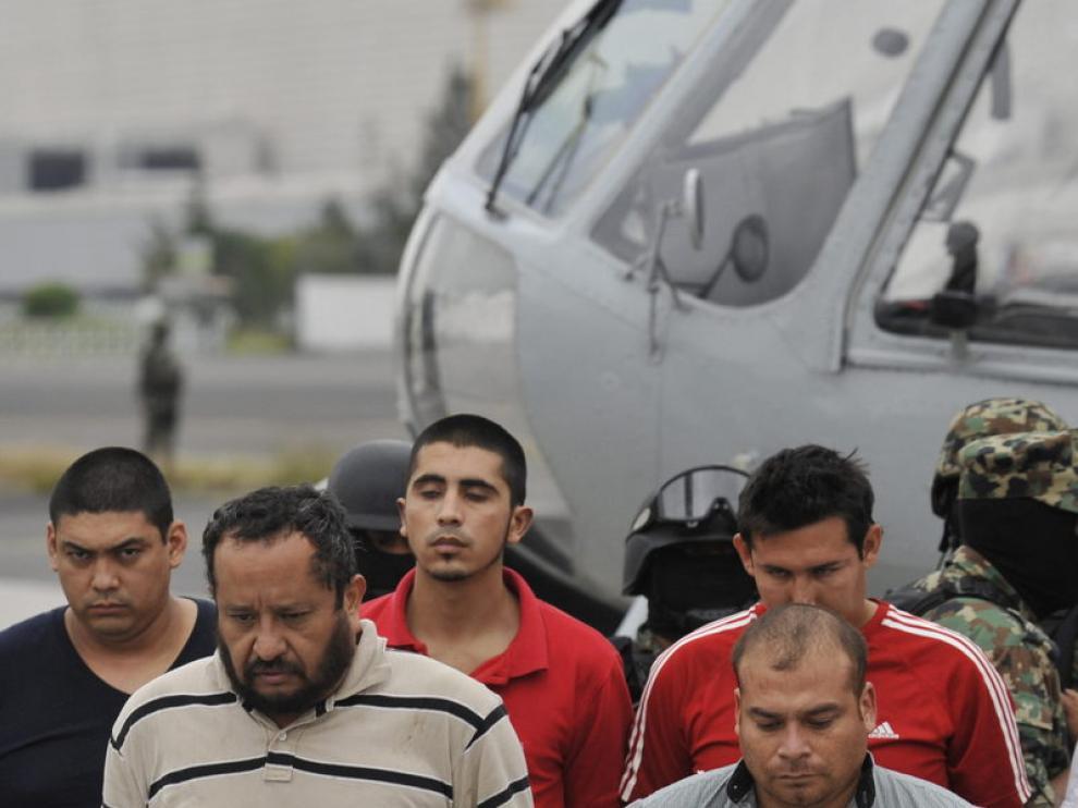 Los sicarios detenidos