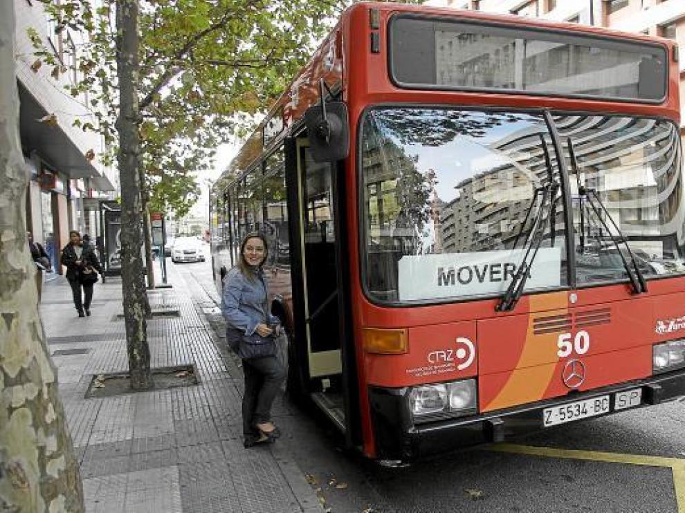 Imagen de archivo de un autobús urbano de la línea Movera-Pastriz.