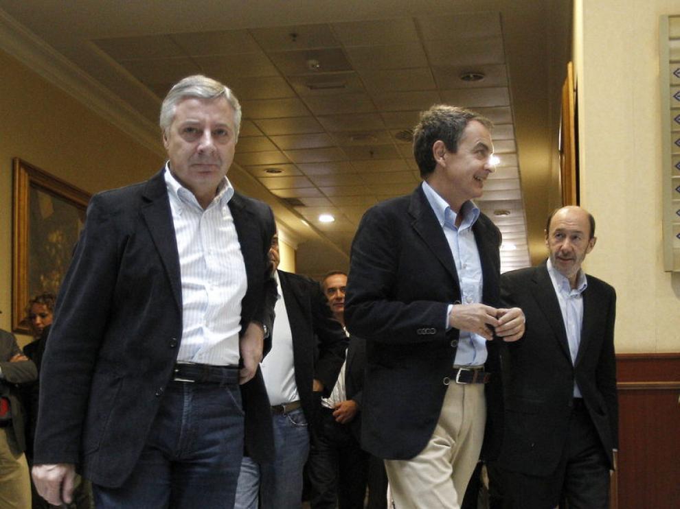 Blanco, Zapatero y Rublacaba en el Comité