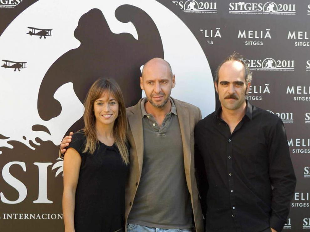 Marta Etura, Jaume Balagueró y Luis Tosar, en Sitges