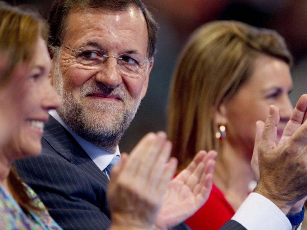 Mariano Rajoy, sonriente durante la convención en Málaga