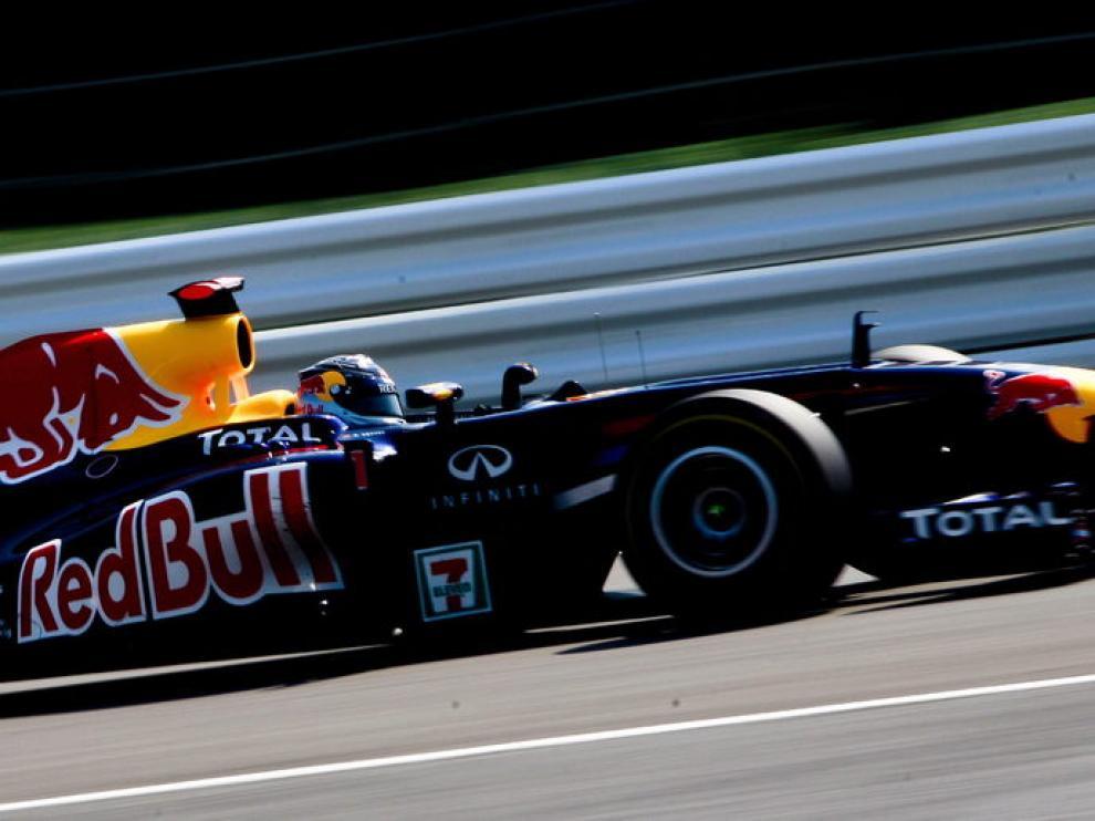 Sebastian Vettel en la sesión de hoy