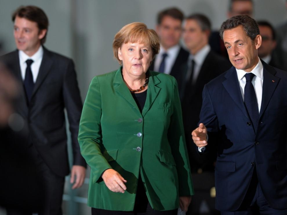 Merkel y Sarkozy