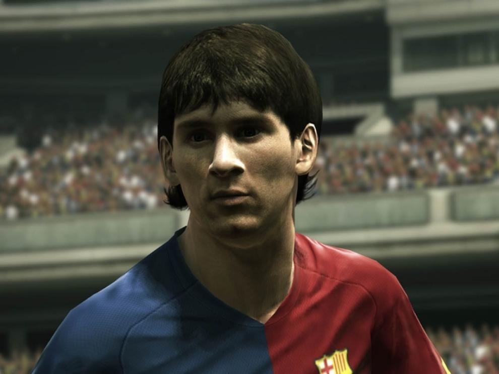 Recreación de Messi en el juego