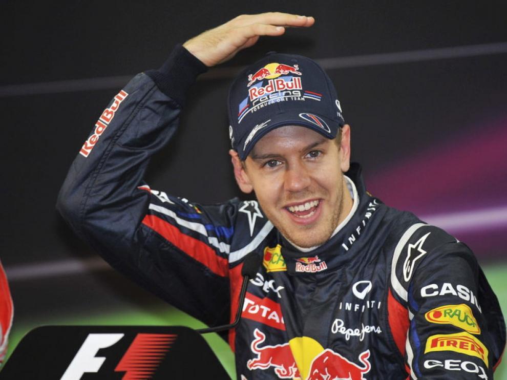 Vettel habla con la prensa