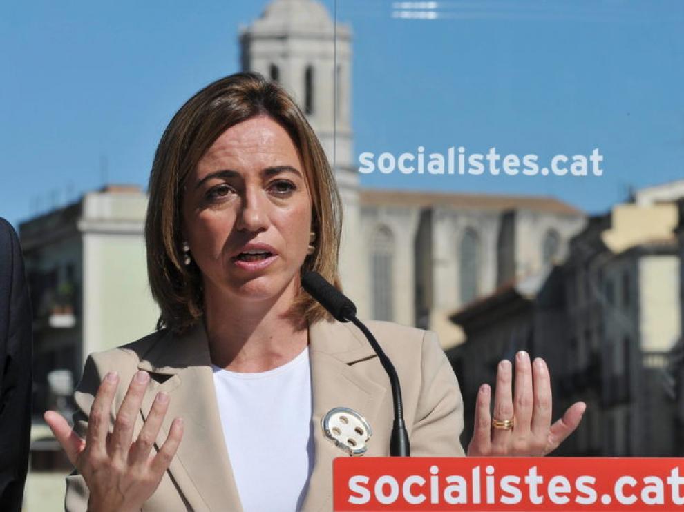 La ministra de Defensa y candidata del PSC por Barcelona, Carme Chacón.