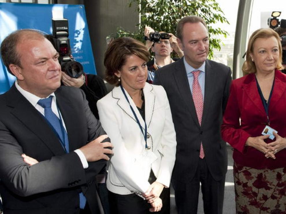 Luisa Fernanda Rudi tras su reunión con el presidente de la Comisión Europea