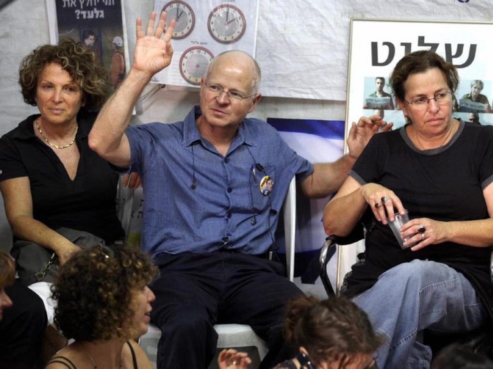 Los padres del soldado israelí Guilad Shalit