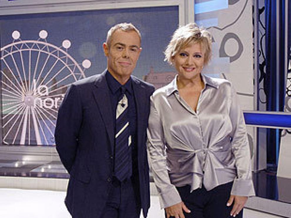 Los presentadores de La Noria