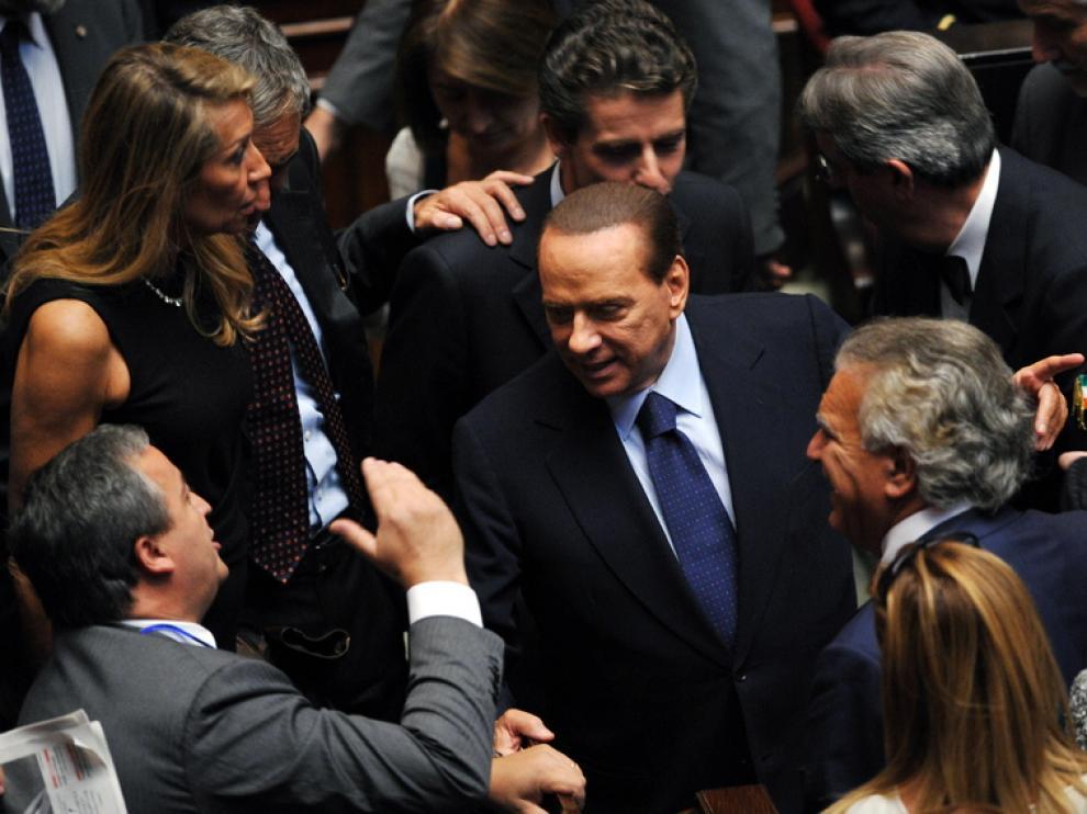 El primer ministro italiano, Silvio Berlusconi, en la Cámara de Diputados