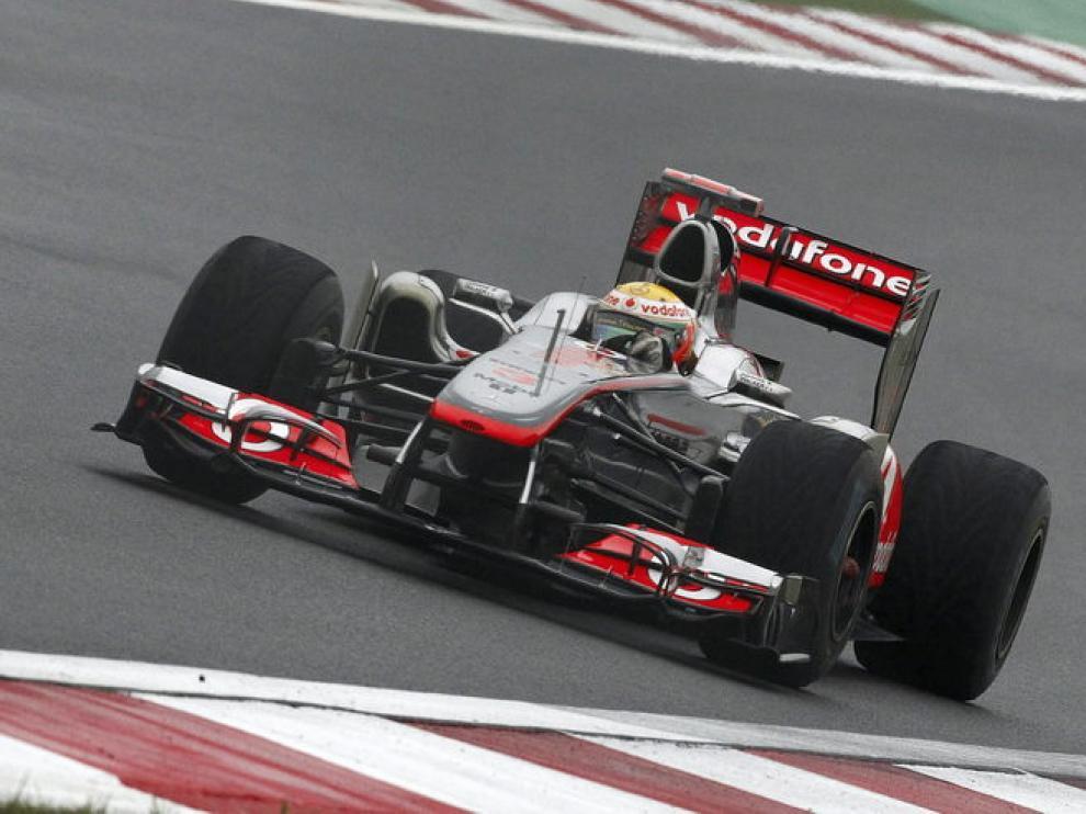 Hamilton, en la segunda sesión de entrenamientos