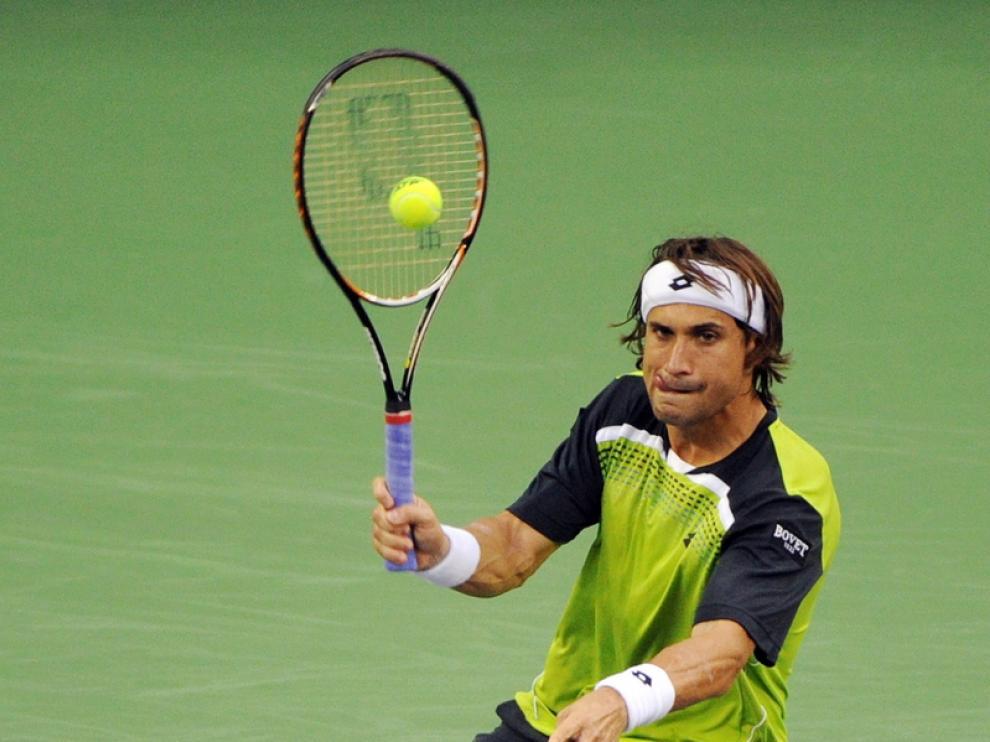 David Ferrer, en el partido contra Feliciano López