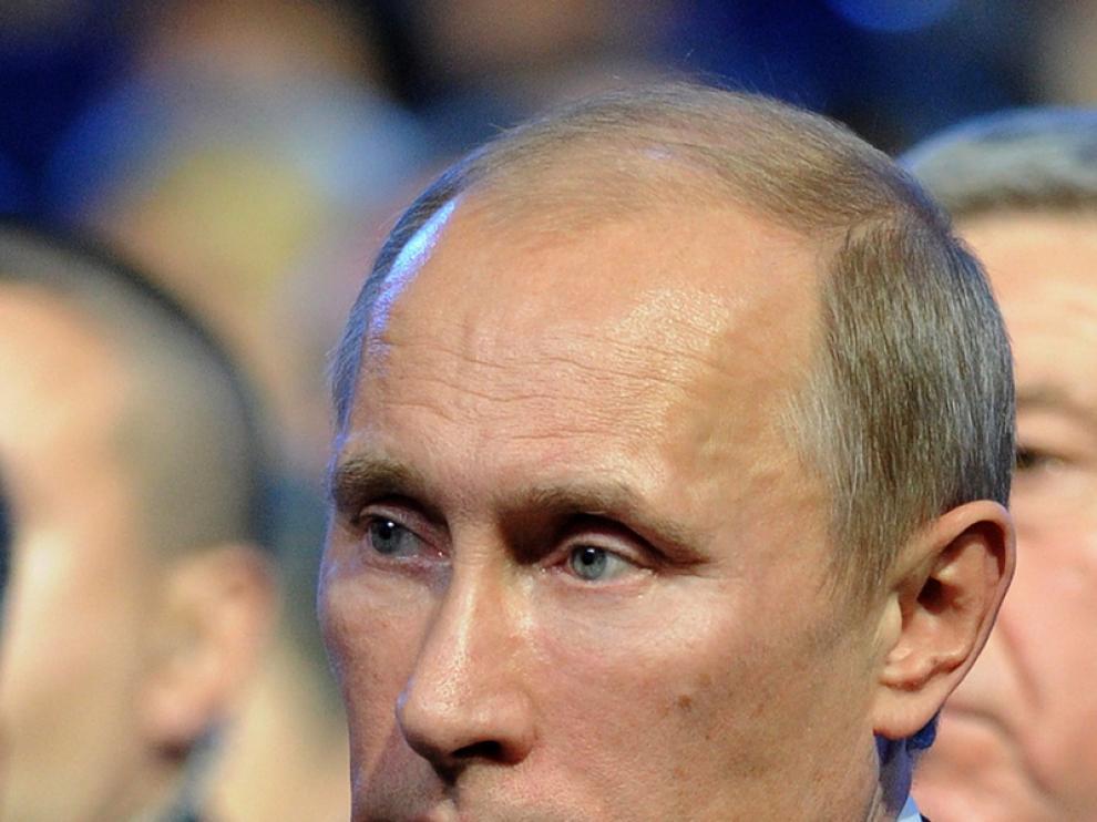 Vladímir Putin, candidato por Rusia Unida a las presidenciales