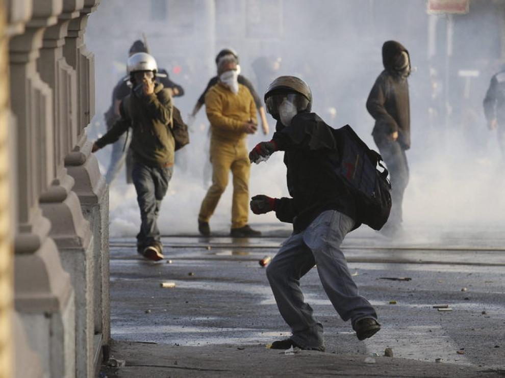 Incidentes con los indignados en Roma