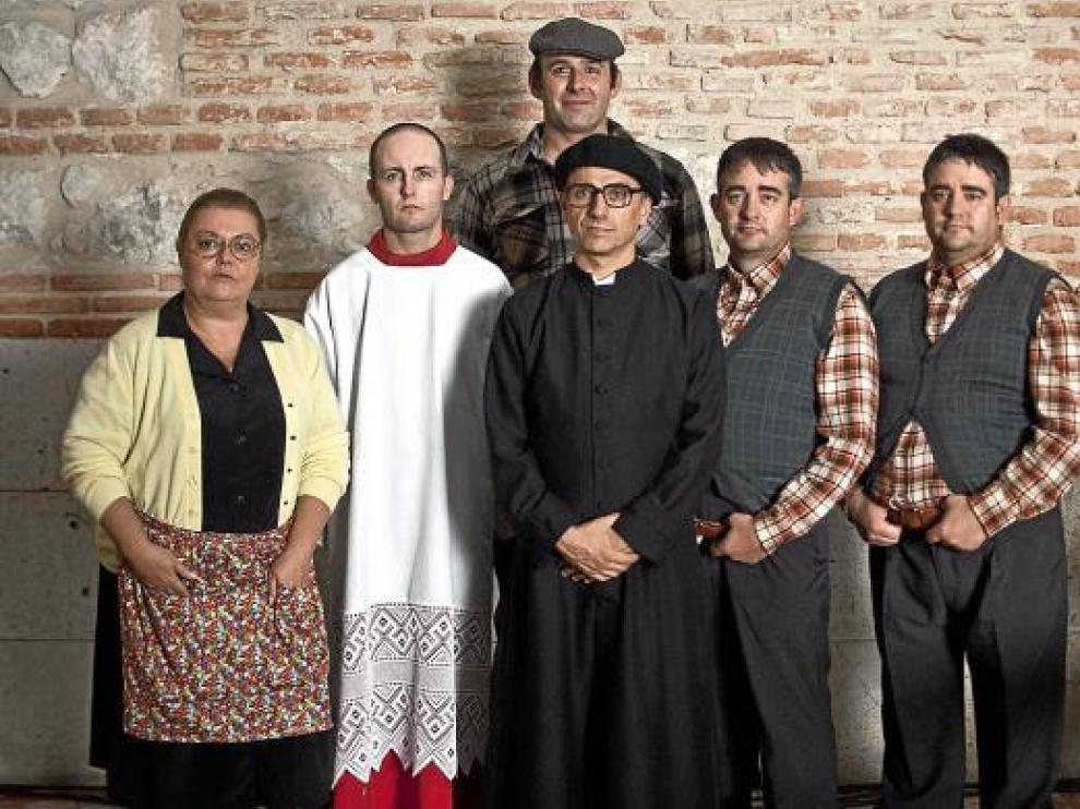 Los superhéroes de la Patrulla Alcafrán, personajes de la serie de humor de José Mota.