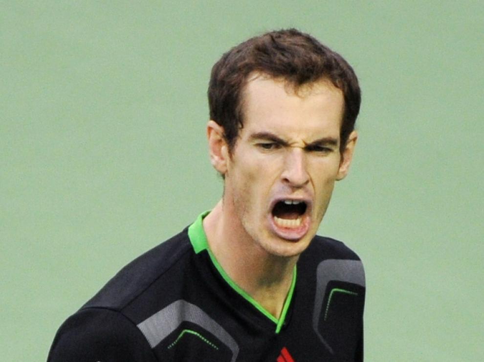 Andy Murray celebra el triunfo ante Ferrer