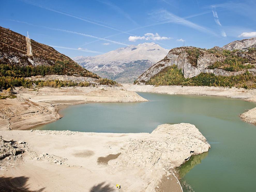 Estado del embalse de Bubal, en la provincia de Huesca