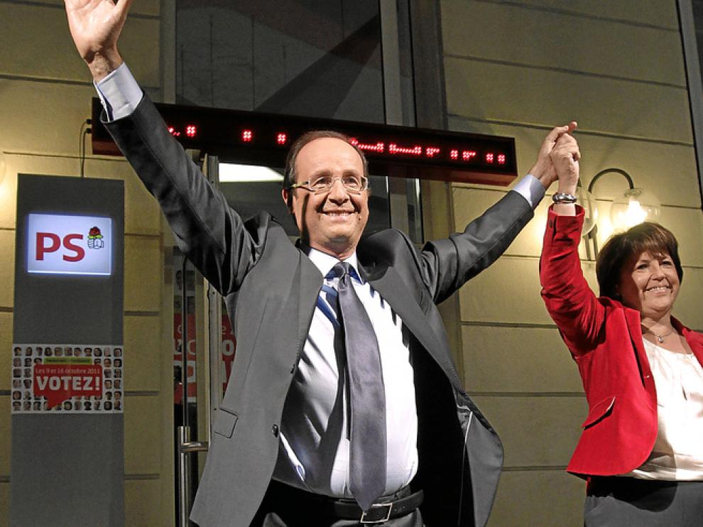 François Hollande será el rival de Sarkozy en las elecciones presidenciales