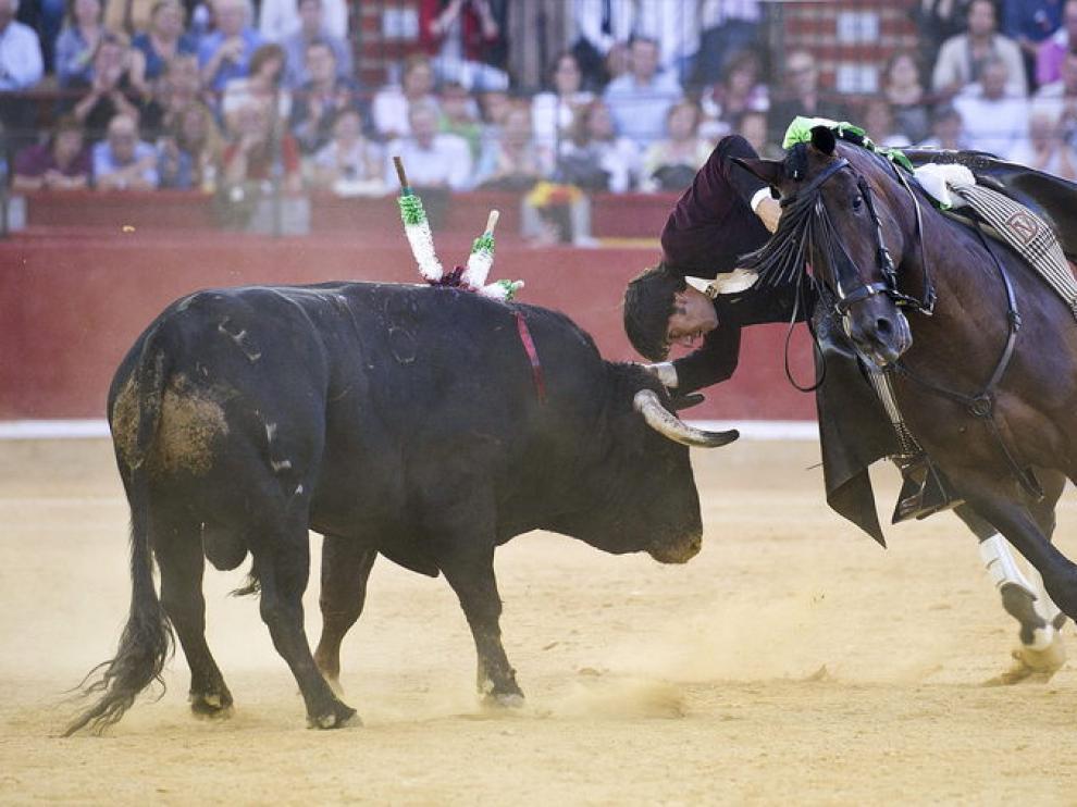 Diego Ventura, en la Feria del Pilar