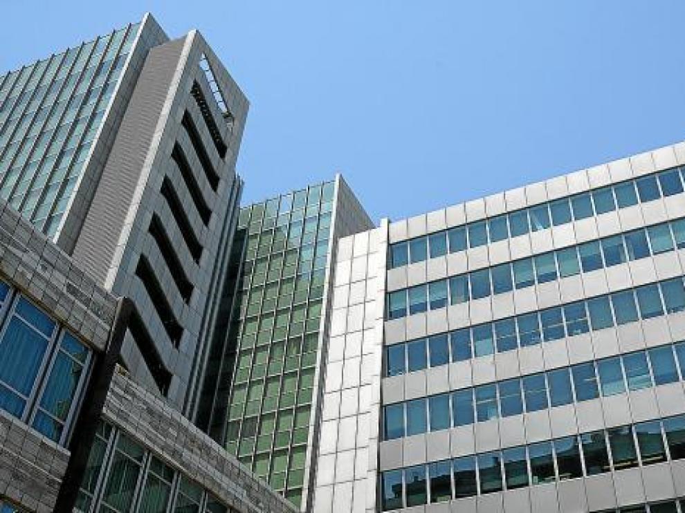 Edificio central de Ibercaja en Zaragoza.
