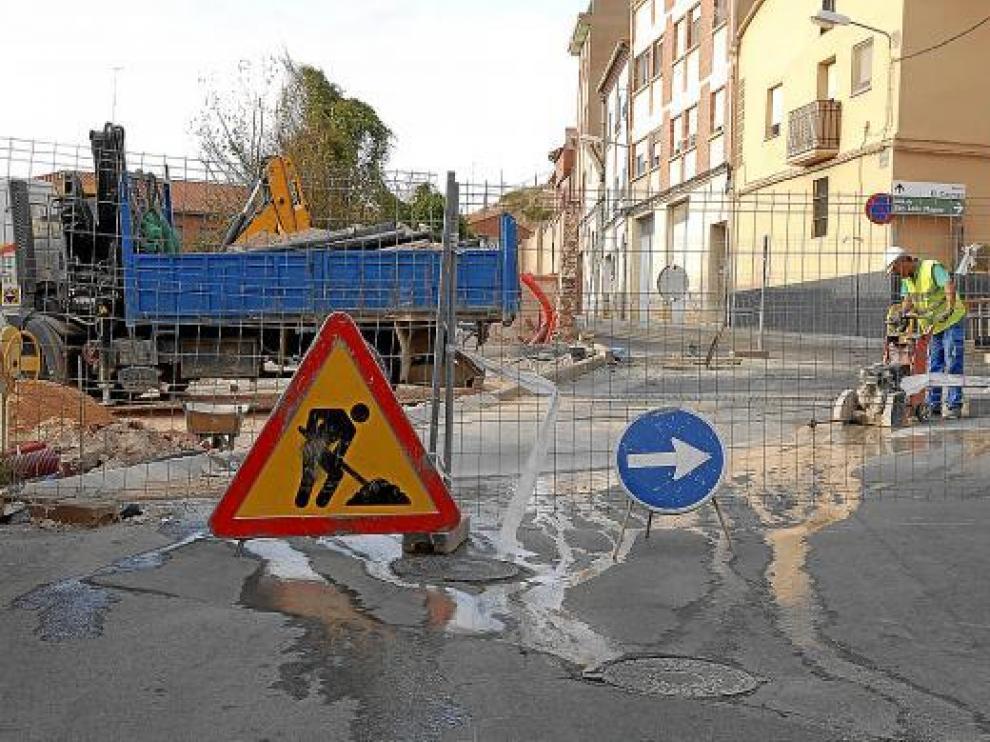 Construcción de la calle de Valdeparaíso