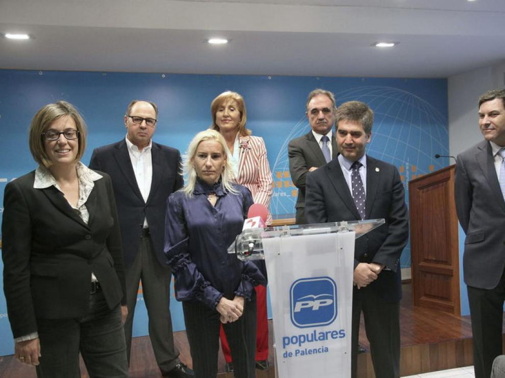 Marta Domínguez en la presentación de la candidatura del PP por Palencia