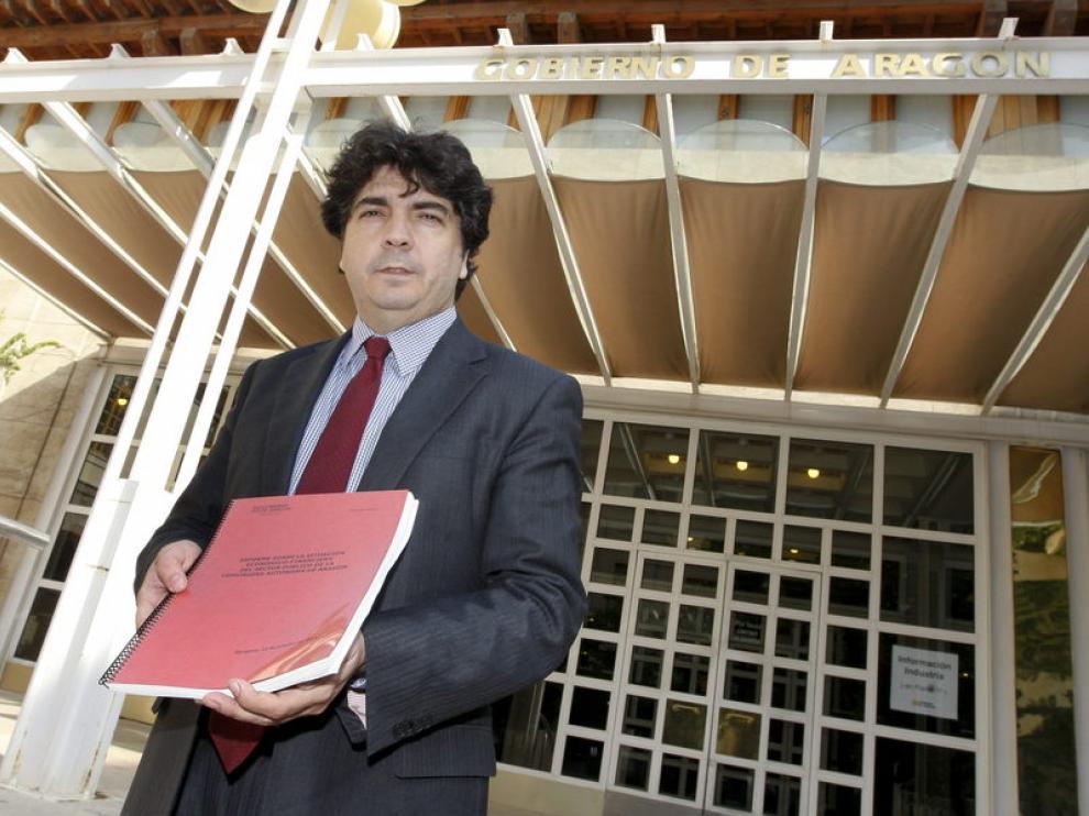 El consejero de Hacienda y Administración Pública del Gobierno de Aragón, Mario Garcés