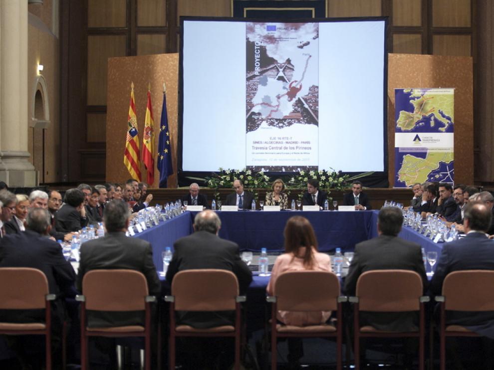 El pasado mes de septiembre el Gobierno de Aragón organizó una reunión en Zaragoza en apoyo de la TCP