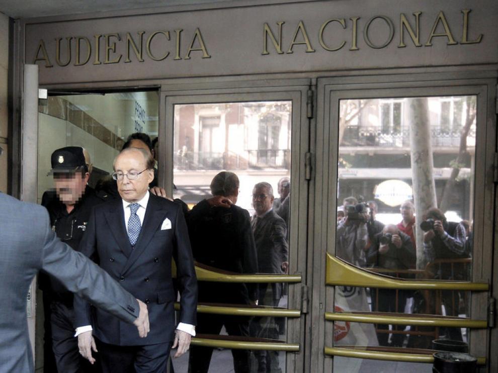 El empresario José María Ruiz-Mateos, a su salida de la Audiencia Nacional