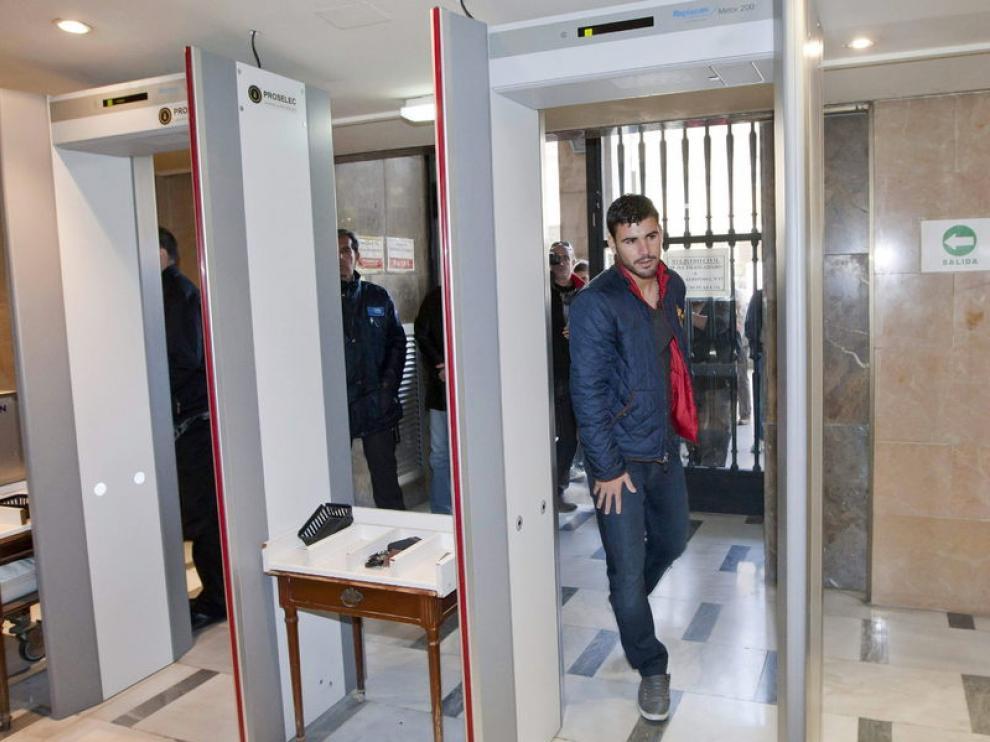 Braulio, a su llegada al juzgado