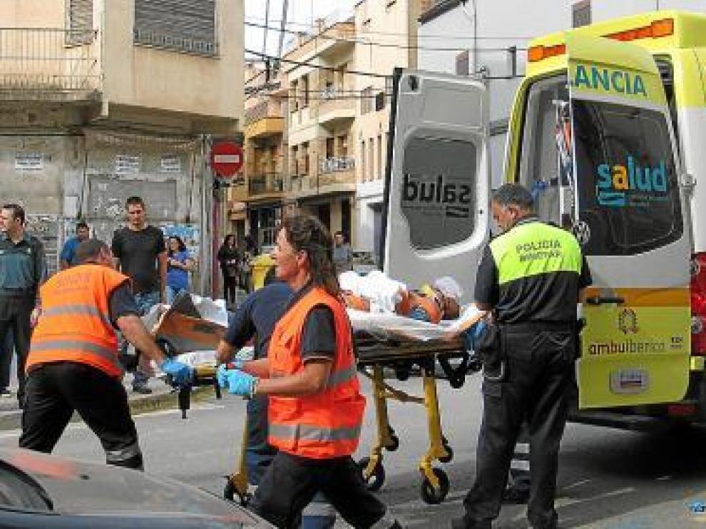 Un albañil herido este año en Binéfar